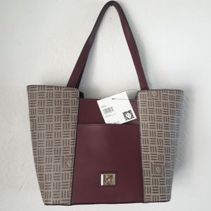 NWT ANNE KLEIN SLIT POCKET TOTE SHOULDER HAND BAG